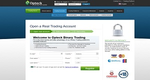 Opteck registration page