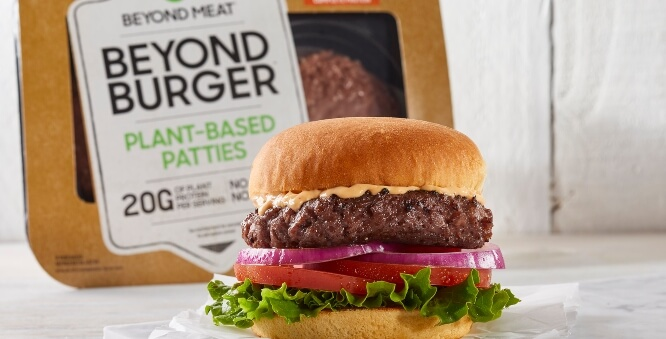 Beyond Meat plant-based burger