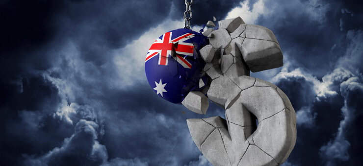 AU flag wrecking dollar sign