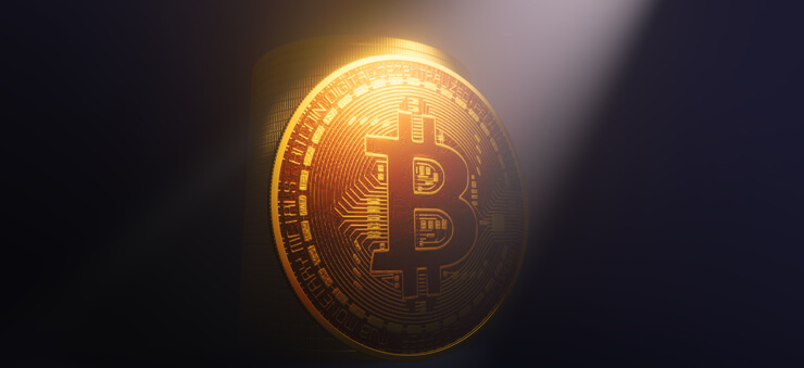 Bitcoin 3D rendering