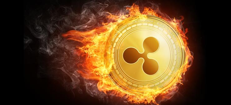 Ripple coin on fire