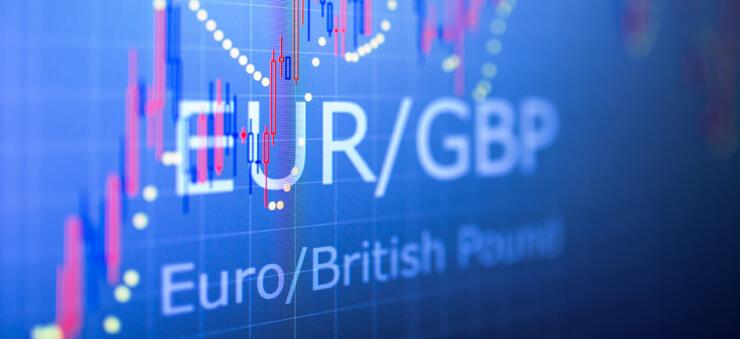 EUR/GBP forex trading